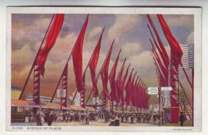 P115 JLs 1934 postcard ave of flags chicago century progress