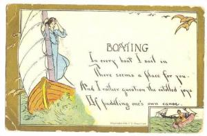 Boating/Sailing Poem, PU-1910