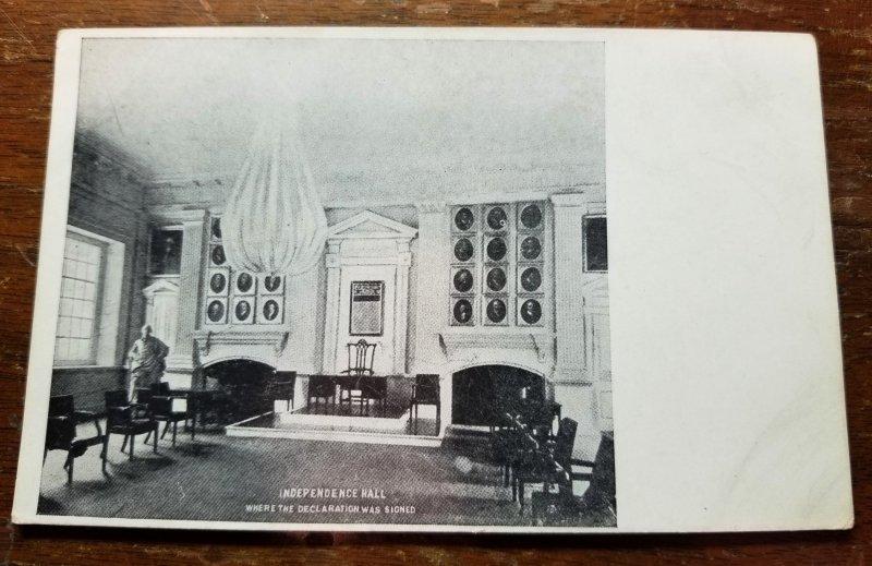 RPPC Inside Independence Hall, Philadelphia PA