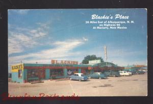 MORIARTY NEW MEXICO ROUTE 66 1950's CARS RESTAURANT OLD ADVERTISING POSTCARD