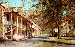 West Virginia Harpers Ferry Visitor Center and Historical Shenandoah Street