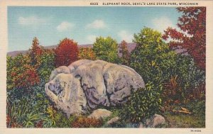 Wisconsin Devils Lake State Park Elephant Rock