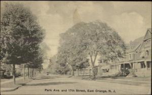 East Orange NJ Park Ave & 17th St. c1910 Postcard