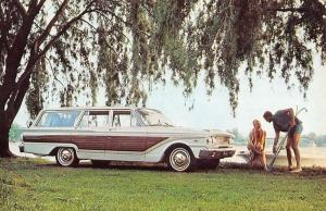 63 Ford Fairlane Squire Wagon Early Auto Vintage Postcard K431274