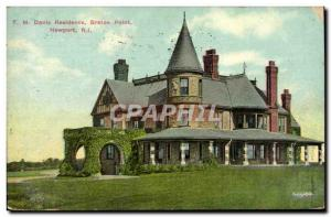 Old Postcard T M Davis Residence Breton Point Newport R I