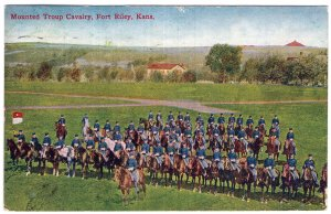 Fort Riley, Kansas, Mounted Troop Cavalry