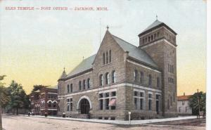 JACKSON, Michigan, 1900-1910s; Elks Temple, Post Office