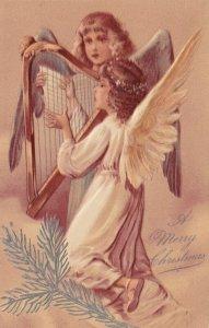 AS: CHRISTMAS, PU-1907; Cherubs singing & playing harp, PFB 6372