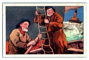 The Local Guide Pilot, Water's Edge, Echte Wagner German Trade Card *VT31U
