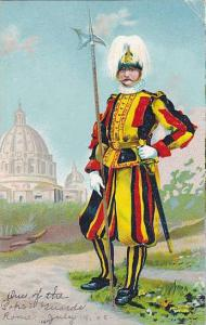 One Of The Pope's Guards, Rome, Italy, PU-1906