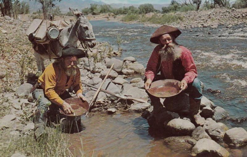 Miners panning for gold , USA , 50-60s