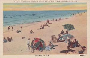 Florida Panama City Bathing Scene Along The Beach