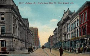 Fort Wayne, Indiana - Downtown on Calhoun Street, South from Main Street - 1911