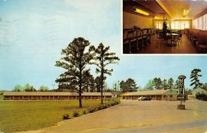Opelika Alabama Pines Motel Multiview Vintage Postcard K43670