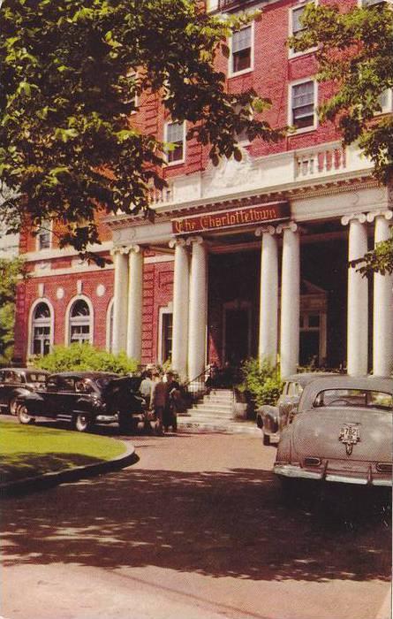 Exterior,  The Charlottetown Hotel,  Charlottetown,  P.E.I.,   Canada,  40-60s