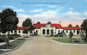 Officers' Club, Fort McClellan, Anniston, Alabama 1940 Vintage Postcard