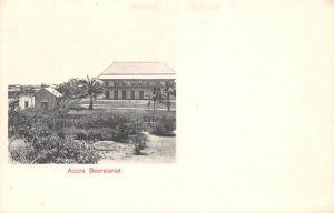 Ghana Gold Coast Accra secretariat postcard