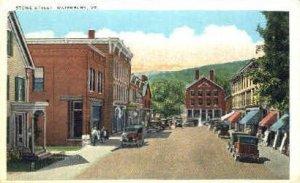 Stowe Street - Waterbury, Vermont