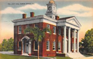 City Hall, Tarpon Springs, Florida, Early Postcard, Used in 1951