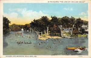 Shadow Lake Swimming Hole, Noel, Missouri Ozarks 1938 Vintage Postcard