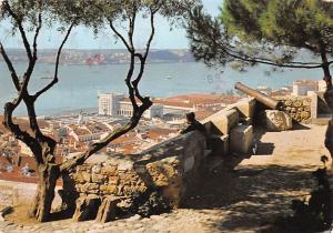 Portugal Old Vintage Antique Post Card Castelo de S Jorge e vista parcial Lis...