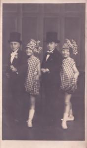 Norwich Children as Fred Astaire Top Hats Antique Norfolk Theatre Postcard
