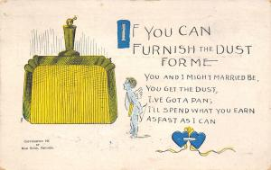 Comic~Cupid~Dustpan Unites Couple~I'll Spend What You Earn Fast As I Can~Stein