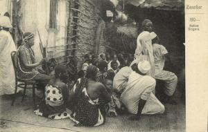 tanzania, ZANZIBAR, Group of Native Singers (1900) Postcard
