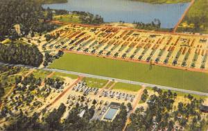 Fort Jackson South Carolina Aerial View Of City Linen Antique Postcard K21473