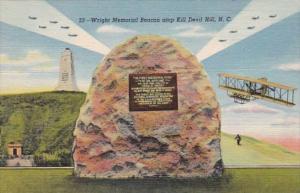 North Carolina Kill Devil Hill Wright Memorial Beacon Curteich