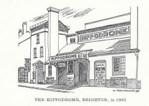The Hippodrome Brighton Theatre David Nixen Magic Show Postcard