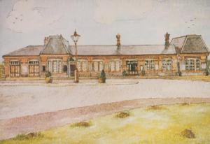 Kidderminster Station in 1984 Southern Terminus Painting Postcard