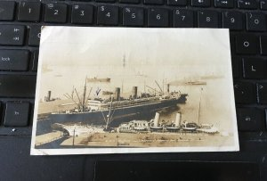 Antique Photo Postcard RPPC- MS Niagara  and Empress of Japan