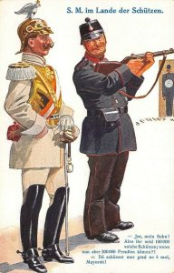 Germany S. M. im Lande der Schutzen Soldiers Guns Postcard