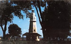 Neenah Wisconsin~Kimberly Point Park~Lighthouse~1960s Postcard