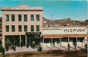 Bank and Mizpah Grill Tonopah Nevada NV 1963 Chrome