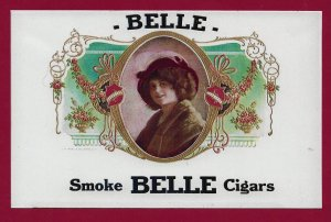 H-011 - Smoke Belle Cigars Repro Cigar Box Label Contemporary Picture Postcard