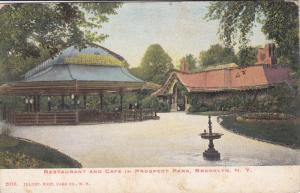 NEW YORK CITY, New York, 1900-1910's; Restaurant And Cafe In Prospect Park, B...