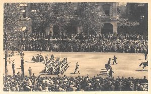 Crowds Watching Soldiers, Paris 1937 Foreign Military Unused