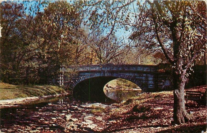 Louisville KY~Stone Arch Bridge Over Beargrass Creek in Cherokee Park '55