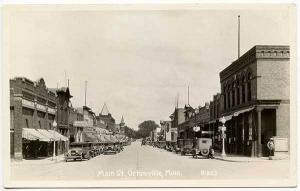 Ortonville MN Street Vue Vintage Store Fronts Old Cars RPPC Real Photo Postcard