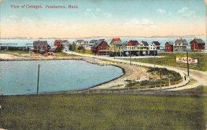 LPS82 Pemberton Massachusetts Aerial View of Cottages Vintage Postcard