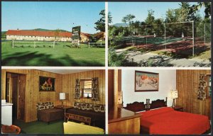 Maine MultiView BETHEL The Barn Motel Routes 2, 5 & 26 Chrome 1950s-1970s