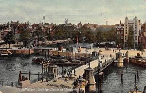 Netherlands Rotterdam Oudehoofdplein, Oude Hoofdplein en Haringvliet, Ships 1908