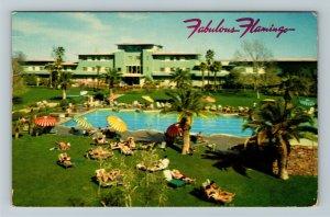 Las Vegas NV- Nevada, Fabulous Flamingo, Chrome c1968 Postcard