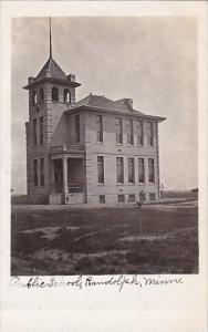 Minnesota Randolph Public School 1907 Real Photo