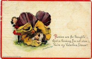Greeting - Valentine  Artist: Frances Brundage