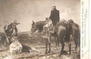 H. Jacquier. After the battle. Horses  Salon de 1909 French art postcard