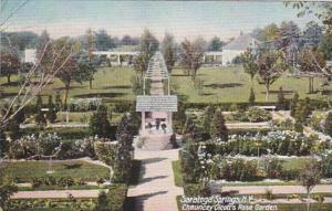 New York Saratoga Springs Chauncey Olcott's Rose Garden