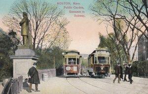 BOSTON , Mass. , 00-10s ; Entrance to Subway , Public Gardens